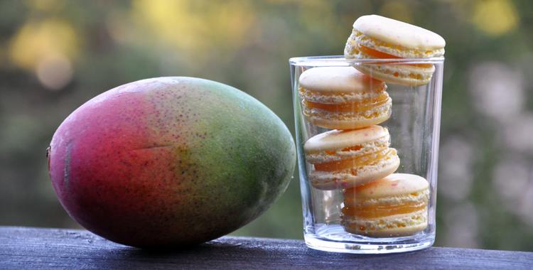 Makroner med mango