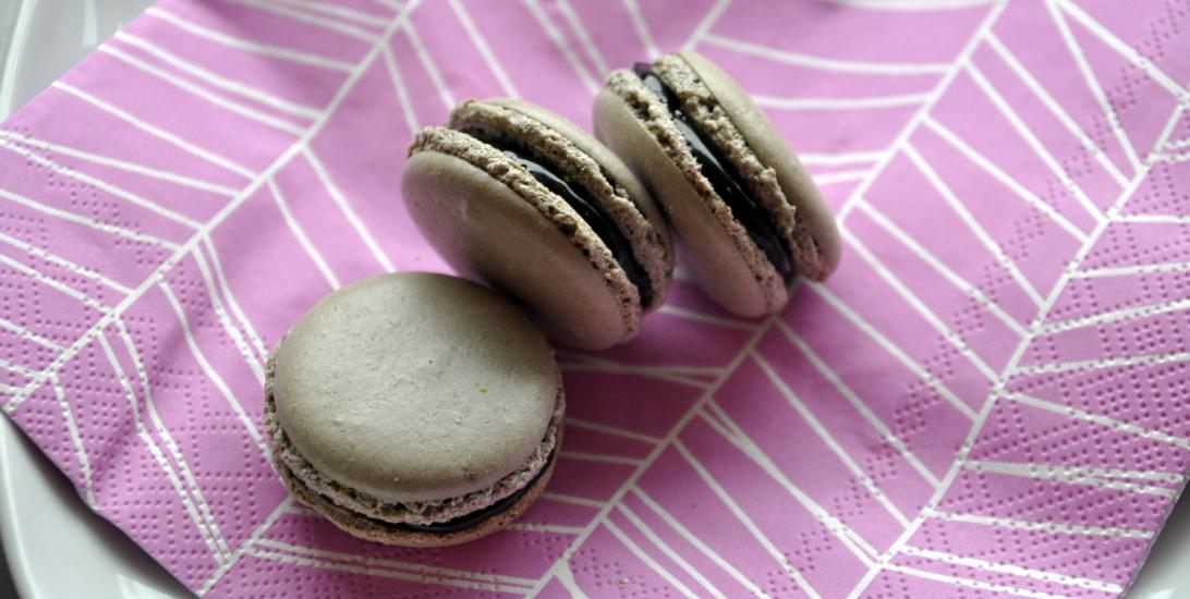 franske makroner med salt karamell