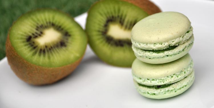 Makroner med kiwi