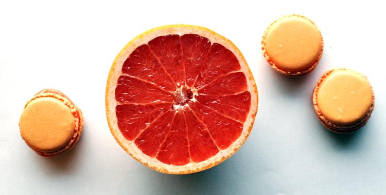 Makroner med grapefrukt